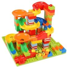 165-330 шт DIY строительные блоки мраморный гоночный лабиринт, Шариковая дорожка, моделирующие строительные игрушки для детей, совместимые брендовые блоки