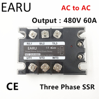 TSR 60AA SSR 60AA Three Phase Solid State Relay AC90 280V Input Control AC 30 480V