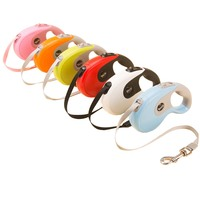 3M 5M One Handed Lock Retractable Dog Leash Rope Automatic Extending Pet Puppy Walking Leads For