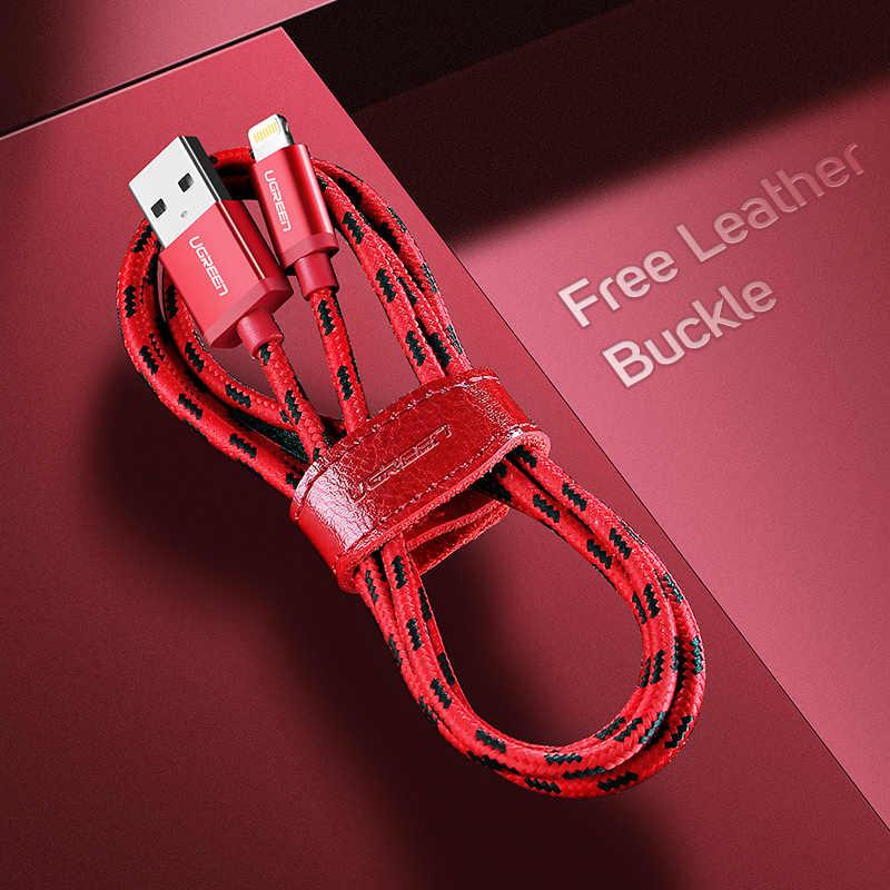 Ugreen untuk iPhone Kabel Lightning untuk Kabel USB untuk iPhone 8 11 Pro X XR Cepat Pengisian Kabel Ponsel kabel USB Charger Kabel