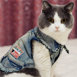 Dog Clothes Denim Jacket Fashion Pet Clothes For Puppy Chihuahua Dogs Cowboy Clothing Spring And Autumn Cat Coat Jeans 05(China)