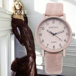 Reloj de pulsera de cuero de moda marca Gogoey Reloj de pulsera de Mujer Bayan Kol Saati Montre femenino