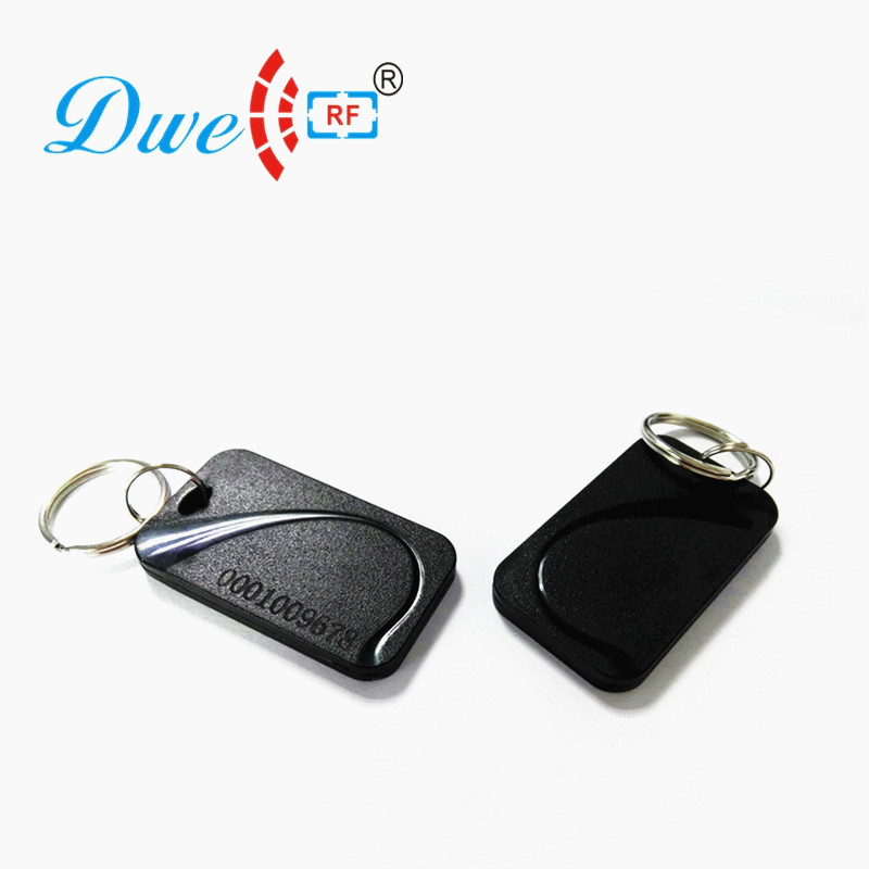 100pcs  per lot  free shipping 125khz abs passive rfid keyfob TK4100 chip mixed color for yellow and black waterproof contactless proximity tk4100 chip 125khz abs passive rfid waste bin worm tag for waste management