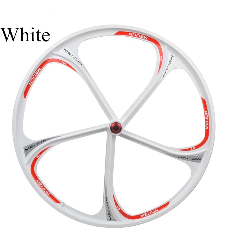 Miejun26 mountain bike bearing one piece wheel disc magnesium aluminum alloy wheel cassette rim aluminum wheels 20 hollow wheel bicycle one piece aluminum alloy wheel wire whole felly rim