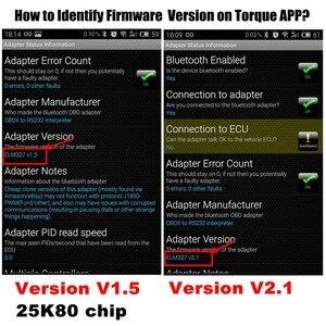 Image 5 - 100% Firmware V1.5 PIC18F25K80 ELM327 Bluetooth V1.5 OBD2 Araç Teşhis Aracı ELM 327 V1.5 Çalışması Android/Symbian EN IYI kaliteli