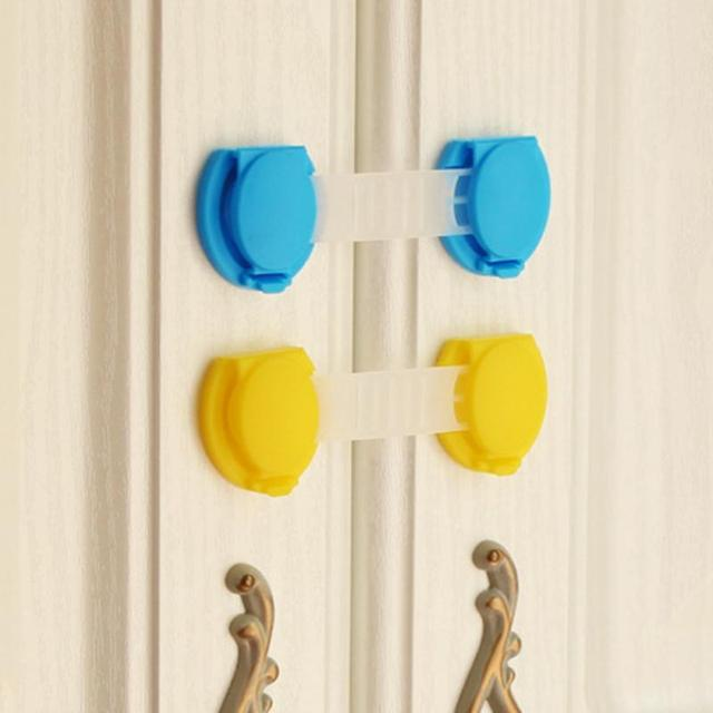 10pcs Baby Long Cute Bendy Door Drawers Safety Lock Children