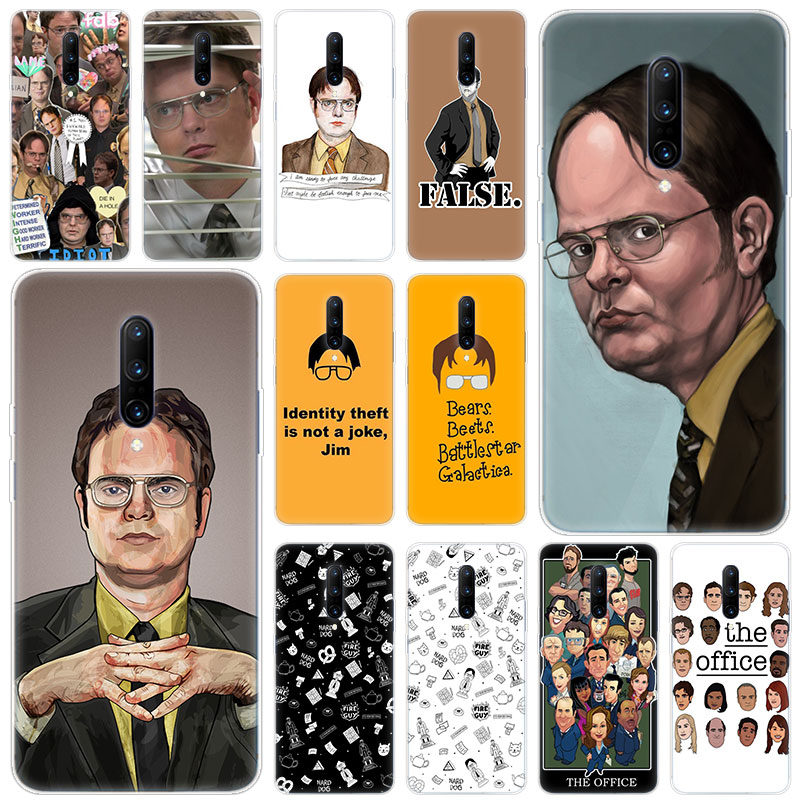 Hot Best of Dwight Schrute Soft Silicone Fashion Transparent Case For font b OnePlus b font