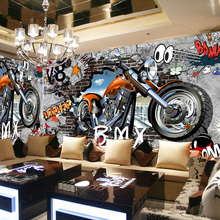 Motorcycle Street Art Graffiti Wall Mural