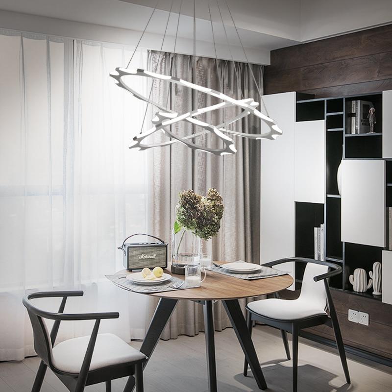 hanging lighting lamparas DIY pendant lamp Ring circles modern led pendant light for dining living room acrylic lampara de techo недорго, оригинальная цена