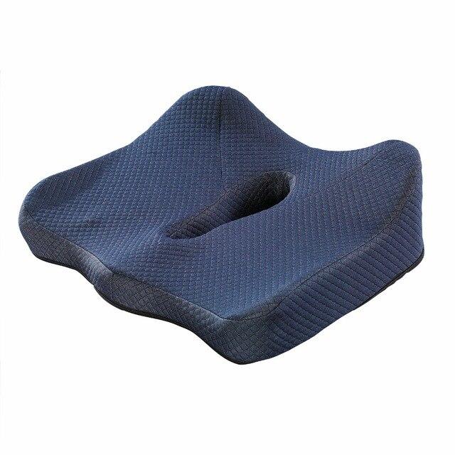 Sciatica Relief Adult Car Seat Anti Hemorrhoids Booster Cushion Memory Foam Coccyx For Office