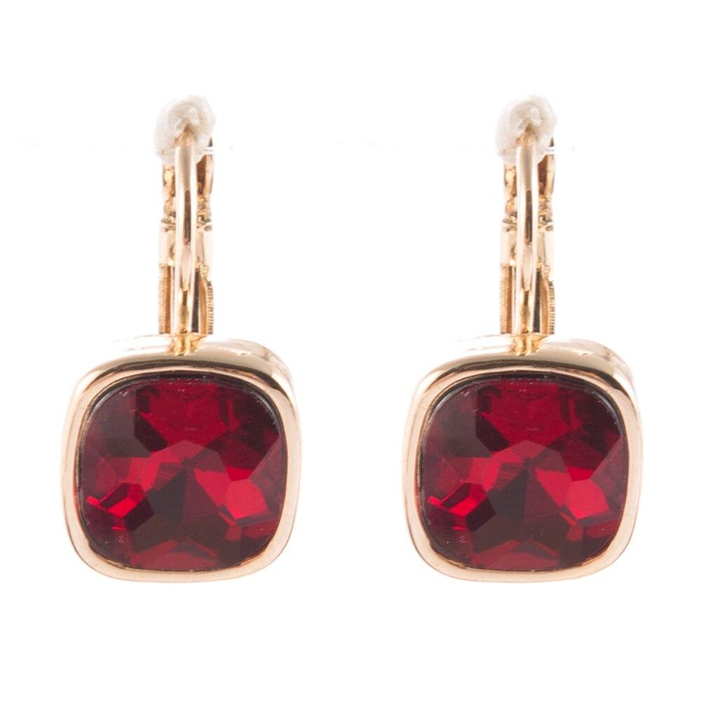 Christmas Gifts 2.2 Cm Red Bride Earrings Vintage Wedding Earrings Crystal Brinco Statement Jewellery Drop Earings Mujer