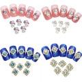 10 Pcs liga de cristal Nail Art adesivos Rhinestone dicas Manicure decalques beleza DIY