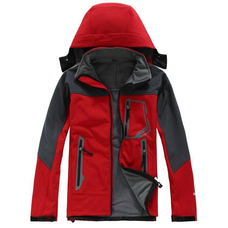 Outdoor Sport Camping Hiking Softshell Jacket Men Coat Windstopper  windproof waterproof resistant to wear Fleece Sportswear robe bilbao