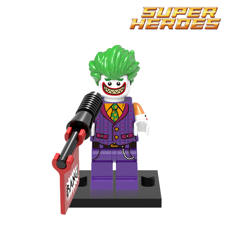 Building Blocks Joker Wolverine Riddler 2017 Batman Movie Super Heroes Action Bricks Kids DIY Toys Educational Hobbies Gift mttuzb newborn baby photography props infant knit crochet costume boys girls photo props children knitted hat pants set