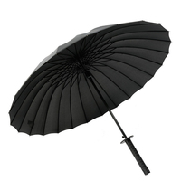 Large Anti UV Umbrella Rain Women Floding Windproof Japanese Katana Umbrella Ombrello Girl Parasols Umbrellas Sunshade UBY004