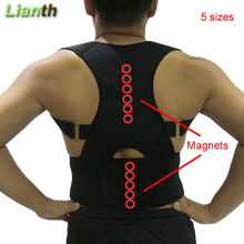 Top Quality Magnetic Back Posture Corrector for Student Men and Women 5 Sizes Adjustable Braces Support Therapy Shoulder T174OLK
