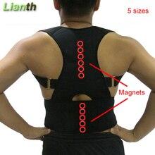 Высокое качество магнитный Корректор осанки для студентов для мужчин и женщин 5 размеров регулируемые подтяжки поддержка терапия плечо T174K03