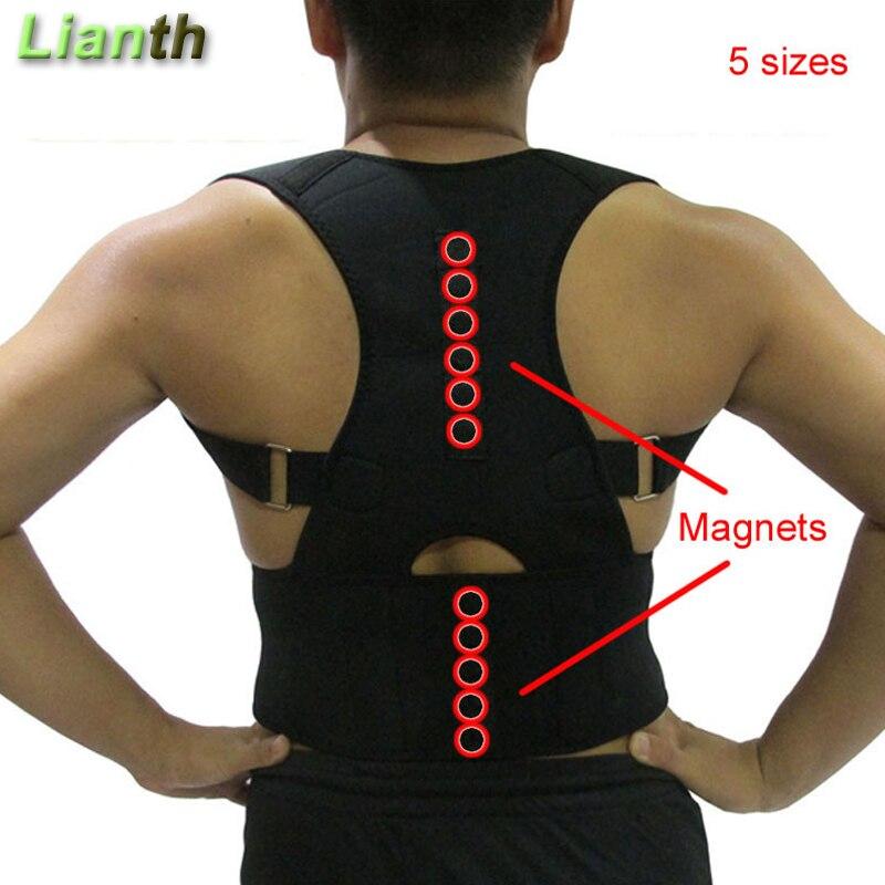 Top Quality Magnetic Voltar Postura Corrector para Estudante Homens e Mulheres 5 Tamanhos Ajustáveis Suspensórios Apoio Terapia Ombro T174K03