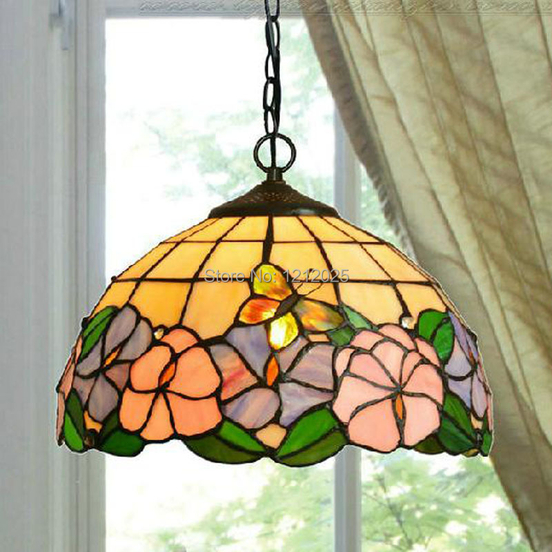 Stained Glass Hanging Lamp Shade Stained Glass Pendant