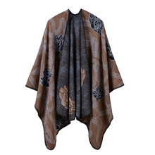 Vintage 2019 winter ponchos and caps women scarf thick warm knit blanket lady pashmina  cashmere like scarves echarpe shawls