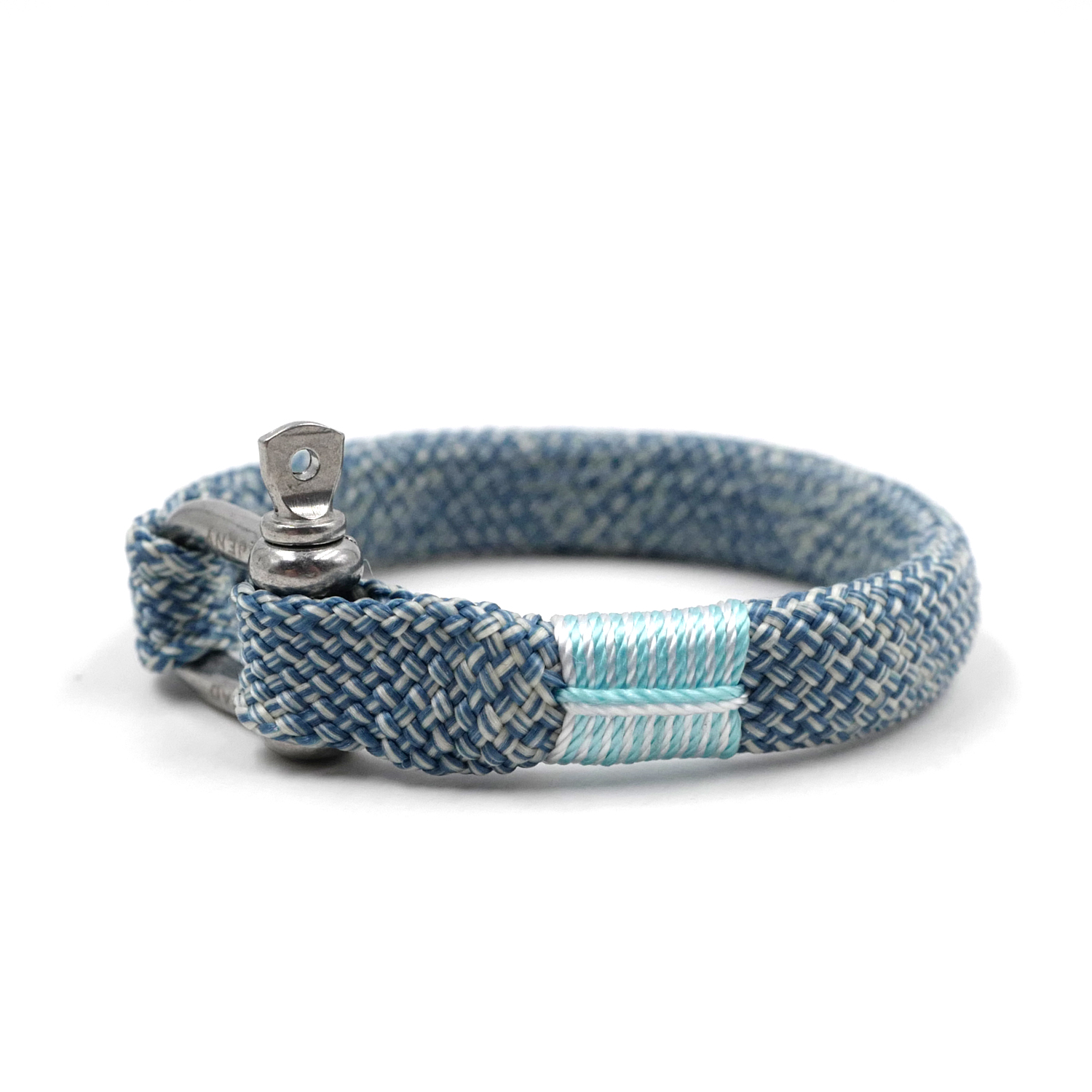 BRT-N521 Unisex Chic Nautical Braided Bracelet Hand-made Yachting Rope Military Paracord Bracelet Wristband With D-Shackle