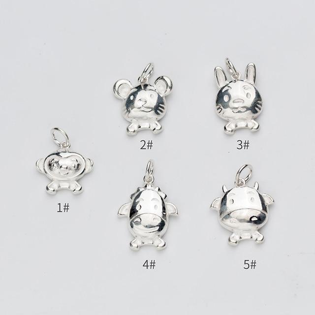 Женский браслет uqbing из серебра 100% пробы с подвесками в