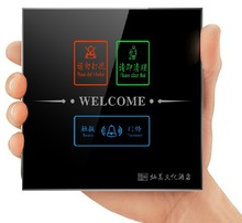 Smart Hotel Home Resident LED Waterproof Touch Doorbell Switch Touch Wall light Switch Free customize logo