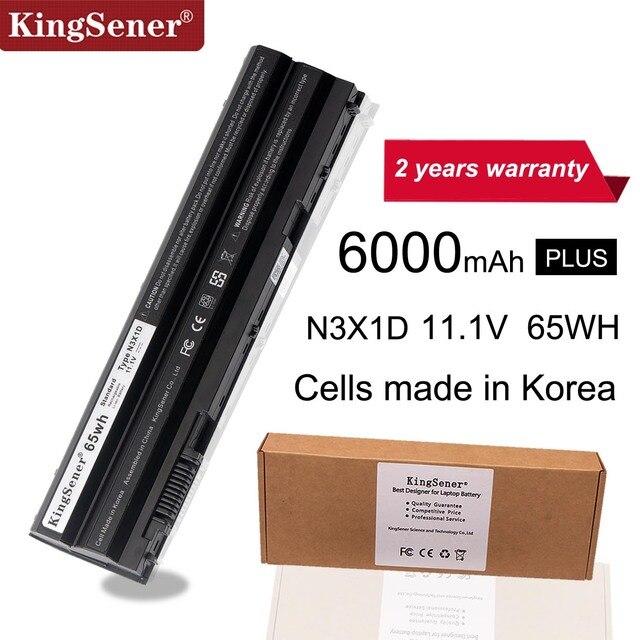 KingSener קוריאה סלולרי 65WH N3X1D מחשב נייד סוללה עבור DELL Latitude E5420 E5430 E5520 E5530 E6420 E6520 E6430 E6440 E6530 E6540