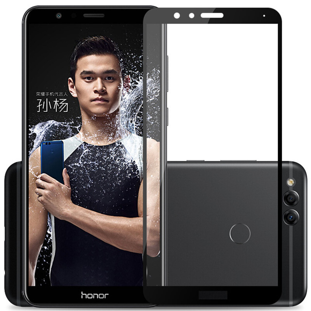 3D Tempered Glass For Huawei Honor 7X Full Screen Cover Explosion-proof Screen Protector Film For Huawei Honor 7X(China)