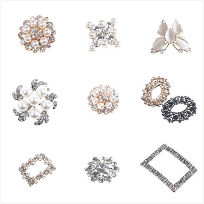 1PCS New Bridal Shoes Rhinestone Clip Buckle Crystal Shoe Clip Decoration Faux Pearl Shoe Clips Decorative Accessories