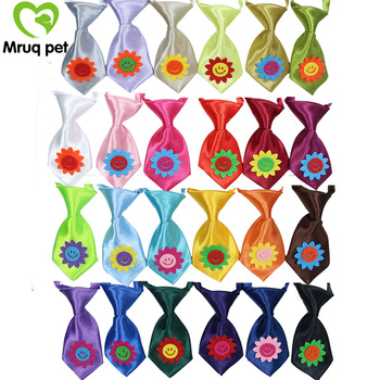 60pcs-pack-pet-puppy-dog-cat-neck-ties-cute-smile-flower-adjustable-solid-small-neck-ties-dog-accessories-pet-supplies