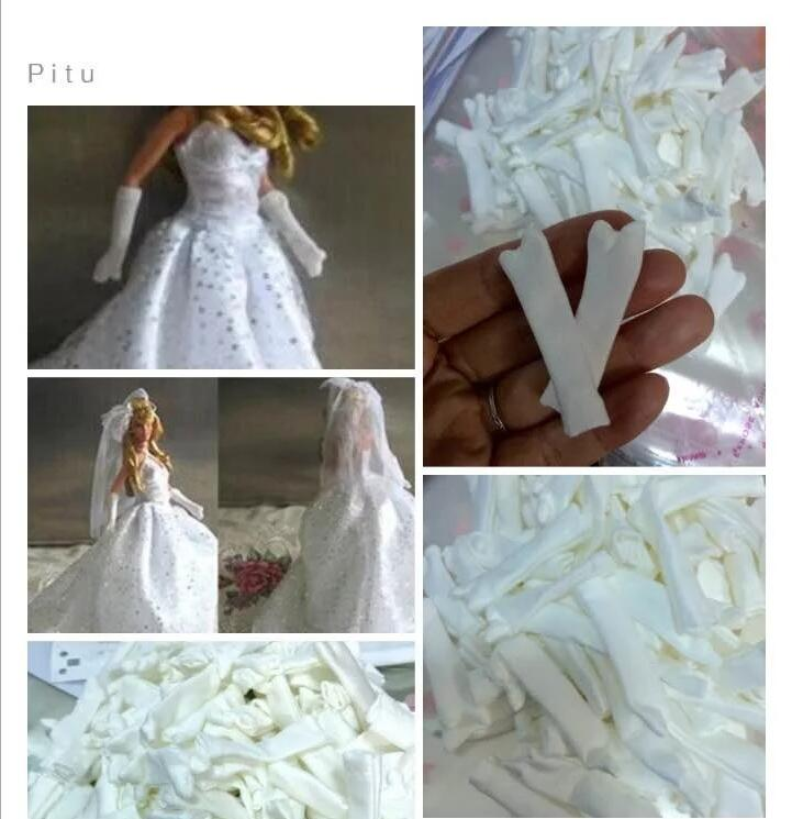 Handmade Fashion Doll Dress Dancing Party For Bride Gloves Wear Clothes For Barbie Doll Accessories Kid Toy