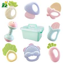6-9 Pcs Cute Fruit Baby Rattle Mobile Soft Teether Education Toy For Newborn 0-12 Months Toys Set Random Color BEI JESS