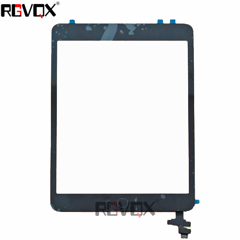 New Original Touch Screen Digitizer For iPad Mini 1 For Mini 2 A1489 A1490 A1491 White Black TP+IC With Adhesive Glass Screen original touch screen digitizer for ipad mini2 white black new tp ic replacement glass screen