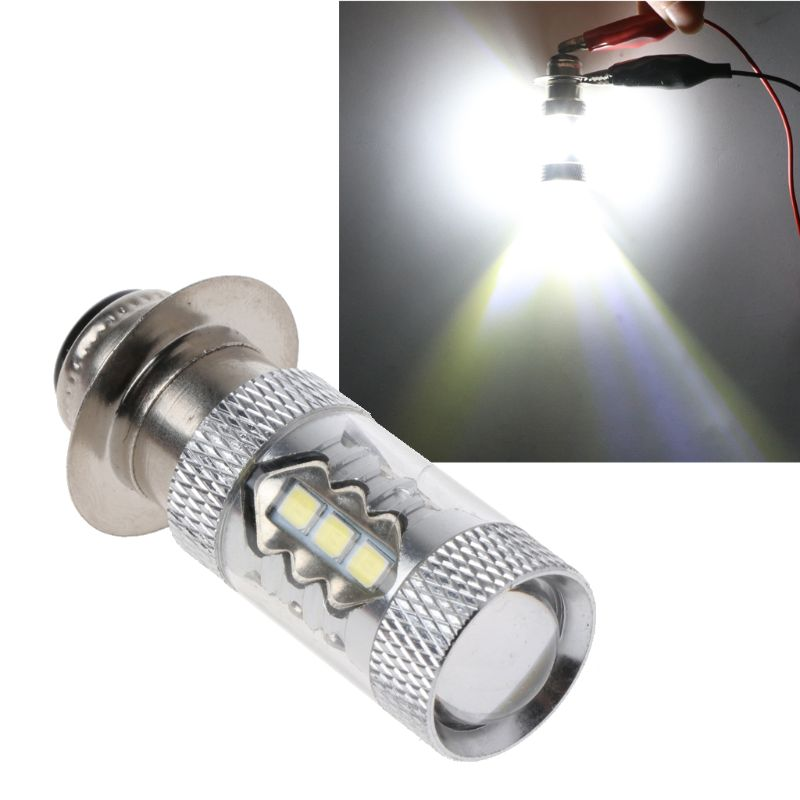 PX15D H6 80W 6500K <font><b>16</b></font> <font><b>LED</b></font> White Headlight <font><b>Fog</b></font> Light Driving Bulb <font><b>Lamp</b></font> For Motorcycle Bicycle Bike image