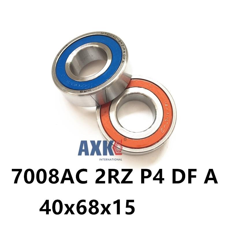 1 Pair AXK  7008 7008AC 2RZ P4 DF A 40x68x15 40x68x30 Sealed Angular Contact Bearings Speed Spindle Bearings CNC ABEC-7 1pcs 71901 71901cd p4 7901 12x24x6 mochu thin walled miniature angular contact bearings speed spindle bearings cnc abec 7