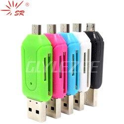 SR 2 в 1 USB OTG кард-ридер Универсальный Micro SD USB 2,0 карта Lector De Dni адаптер Micro USB для ПК ноутбука Android