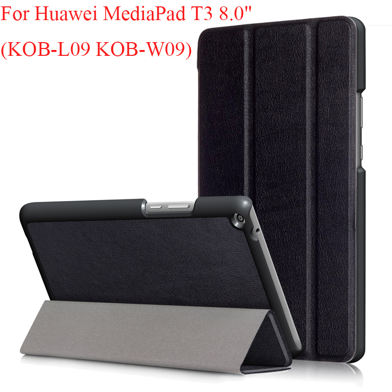 3 Folding Slim PU Case For Huawei Mediapad T3 8.0