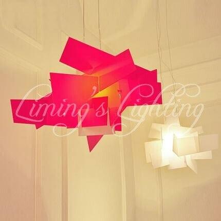 2 pièces D65CM Moderne RH LOFT Européenne Luminaire Acrylique Big Bang Lustres Éclairage Art Pendentif Lampe de Plafond LED Ampoule 90-260 V
