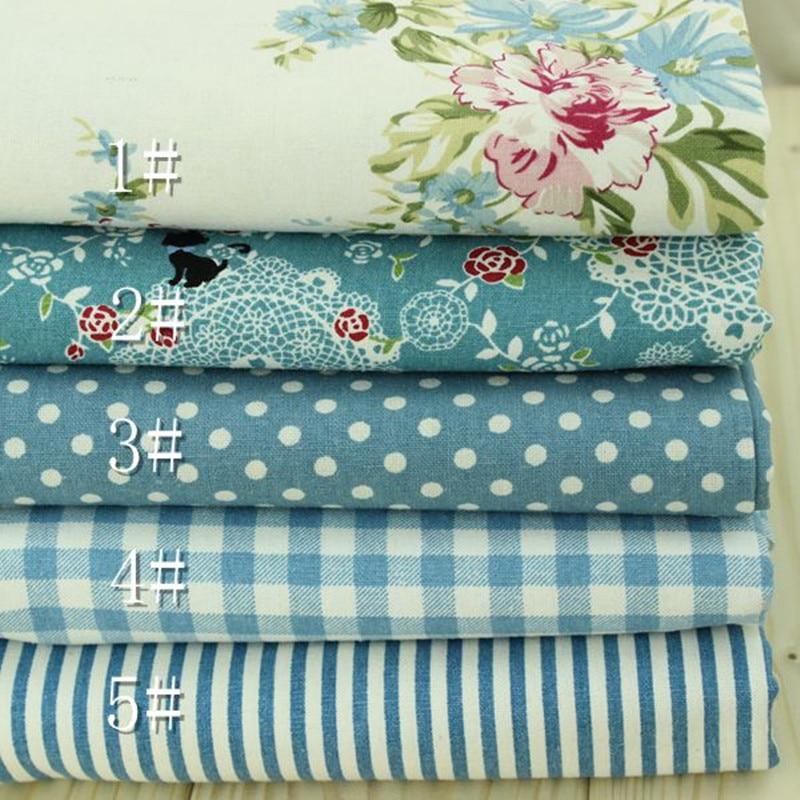 Chic Blue Beige Cotton Linen Plaid Curtains For Boys Bedroom: Aliexpress.com : Buy 1 Meter Blue Color Pastoral Style
