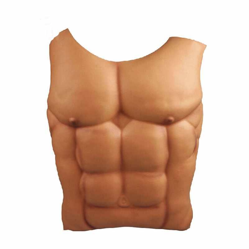 1 шт. фальшивые мускулы для мужчин, Грудь живота, кожа Eva пены, Необычные забавные платья, вечерние украшения, поддельные груди, фальш накладка на торс, Хэллоуин, забавные украшения 5Z