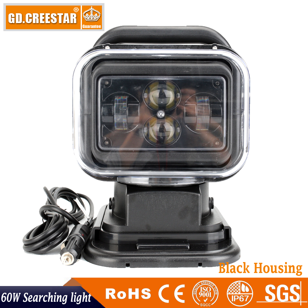 Здесь продается  60watts 7 inch wireless remote control 360degrees rotation light led search light for off-road boat vehicle marine fishing x1pc  Автомобили и Мотоциклы