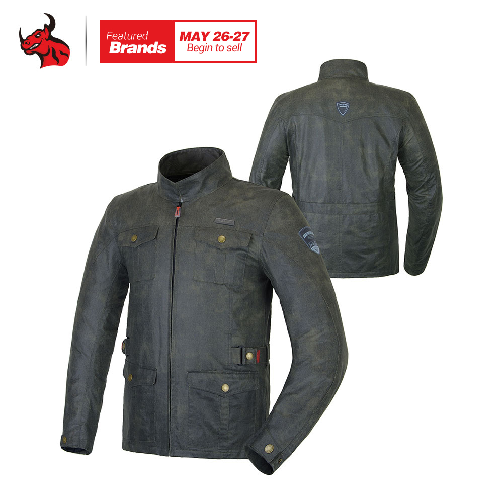 BENKIA Vintage Motorcycle Jacket Men S Motorcycle Racing Jacket Blouson Moto Motorcross Jacket Jaqueta Motoqueiro Couro