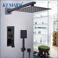 KEMAIDI Ванная комната душ 2 функции черный цифровой Душ Набор смесителей осадков Насадки для душа 2 способ цифровой Дисплей смесителя