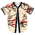 Men's shirts flowers Jersey overshirt Streetwear Hip Hop with Single Breasted summer tees baseball shirt 3d print  top tees