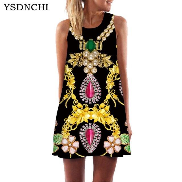 fd5ef78fa04c 2018 Women Floral Print Chiffon Dress Summer Dress Sleeveless Boho Style  Short Beach Dress Sundress Casual Shift Dresses Vestido