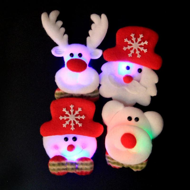 Hoomall Brooch Led Glowing Cartoon Santa Claus Snowman Deer Christmas Brooch Pin Cute Xmas Toy Flag Pin Art Pin Apparel Sewing & Fabric Arts,crafts & Sewing