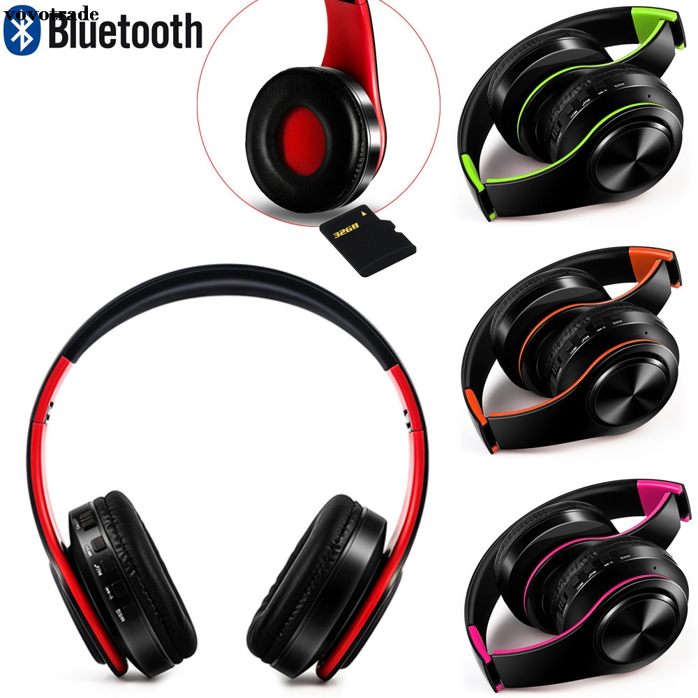 toopoot Bluetooth Headphones Over Ear Hi-Fi Stereo Wireless Headset With Mic For PC Smartphone Mp3 Hifi Headphone Headset  black stereo in ear wireless bluetooth gaming headset headphones earphone handsfree with mic for ps3 smartphone tablet pc