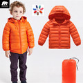 2017 Autumn Winter boys outerwear Ultra Light Down Coat 90% White Duck Down Jackets 7 colours children jackets infant overcoat