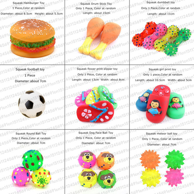 Rubber Squeak Toy for Dog Screaming Chicken Chew Bone Slipper Squeaky Ball Dog Toys Tooth Grinding & Training Pet Toy Supplies 2